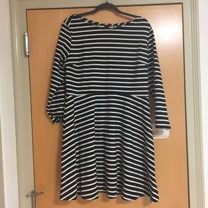 OLD NAVY black and white stripe skater dress